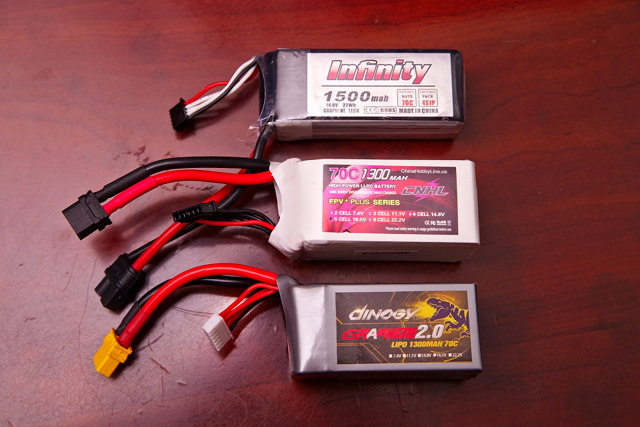 Assortment of 4S and 5S LiPo Batteries