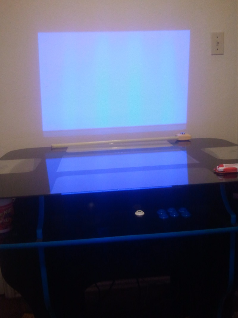 Using my old projector to help choose the right size TV
