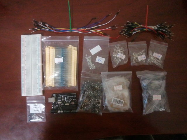 My custom made Arduino starter kit