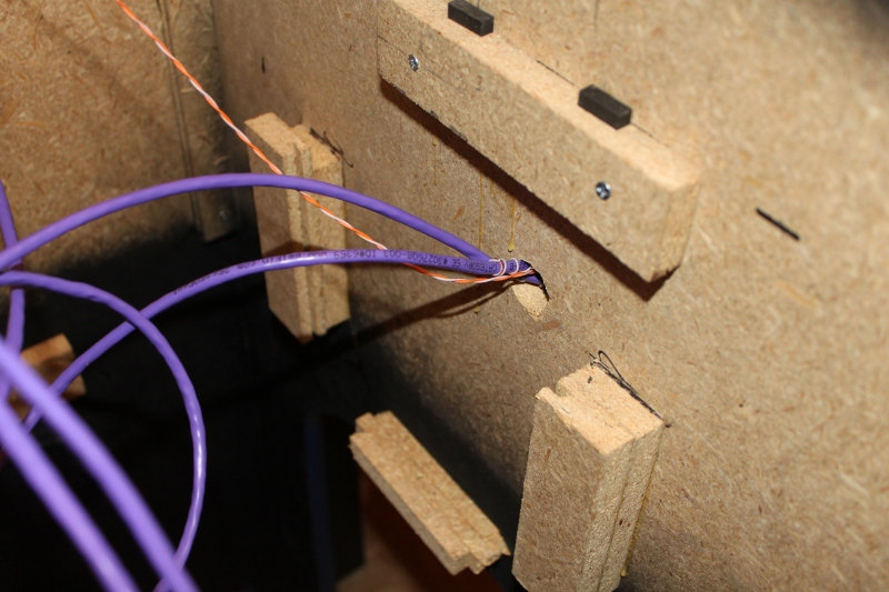 Wiring to one of the joysticks