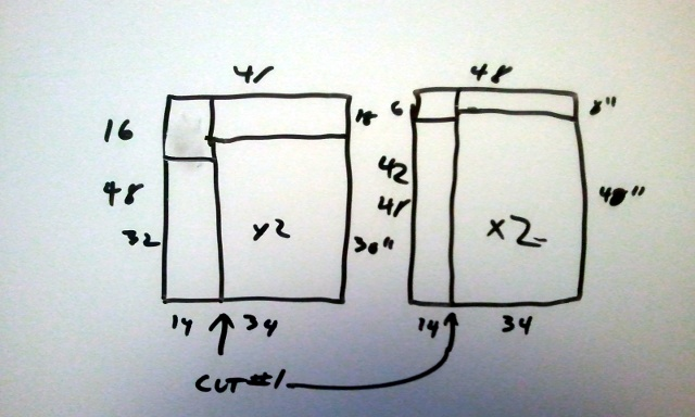 One of the early whiteboard diagrams