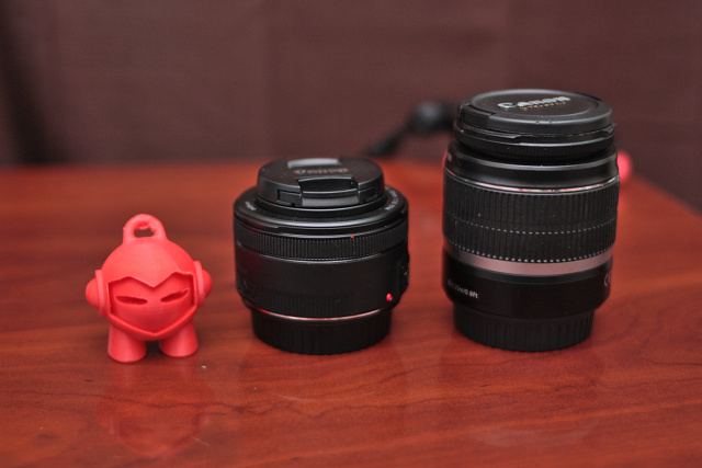 Canon 50mm f/1.8 vs. Canon 18-55mm