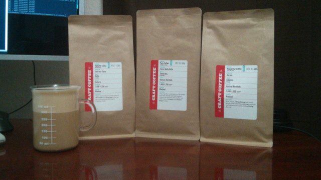 Three Bags of Coffee from Craft Coffee