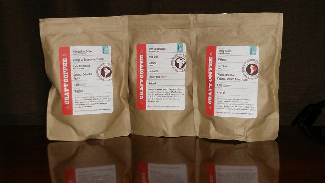 Craft Coffee selection for June 2014