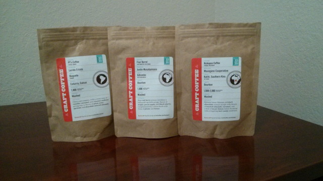 Craft Coffee shipment for May, 2014