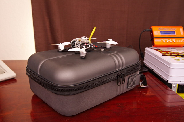 Fat Shark Case With Transmitter and KingKong FlyEgg 130 Micro Drone