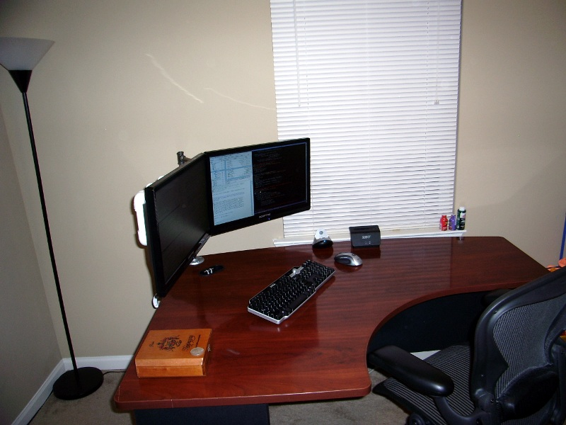 Pat's desk in 2011