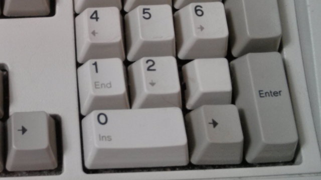Wrong cap on the 3 key