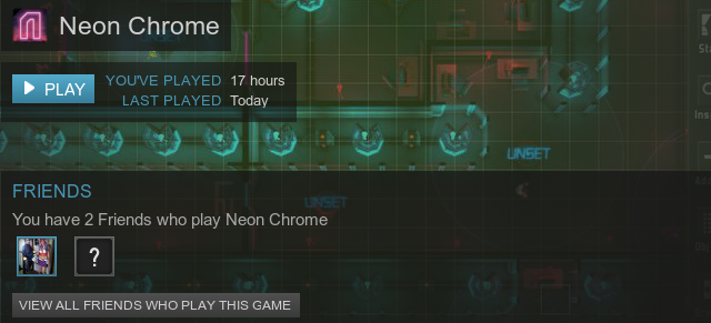 Neon Chrome Steam