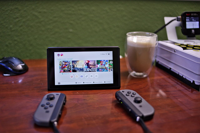 Nintendo Switch in the dock