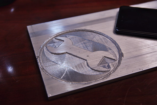 Team Fortress 2 Engineer Logo in Aluminum
