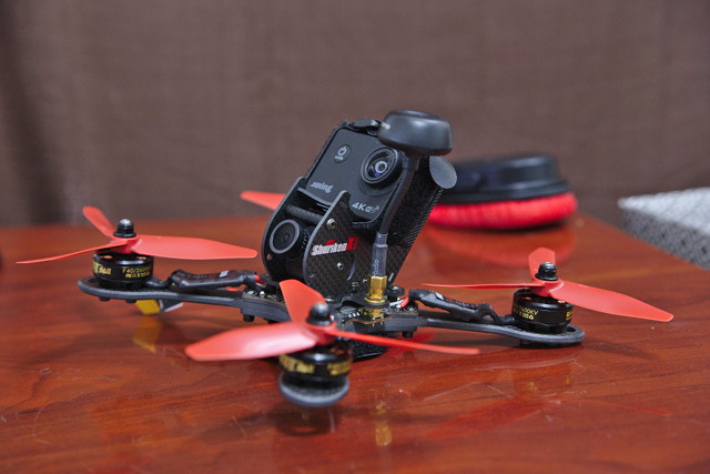 Shuriken X1 with an Action Camera