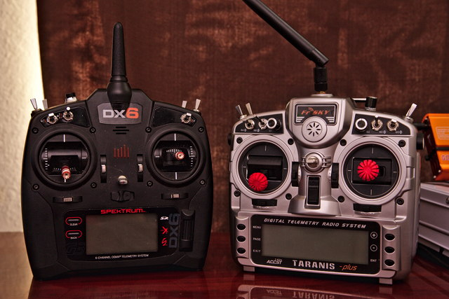 Spektrum DX6 and Taranis X9D Plus