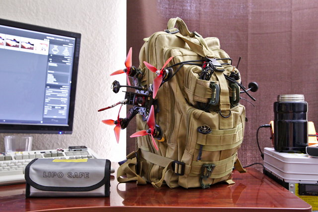 My Old Quadcopter Bag, Now Caleb's Bag