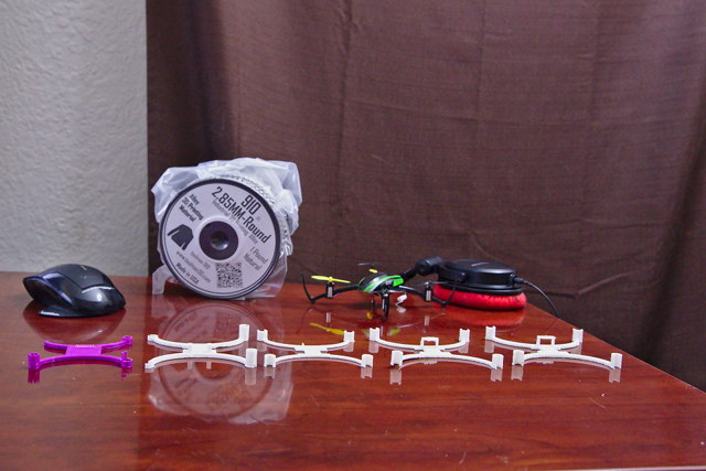 A Squadron of ABS and Nylon 3D Printed Drones