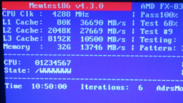 Start of memtest86+ run: Not sure why memtest+ is reporting DDR1600
