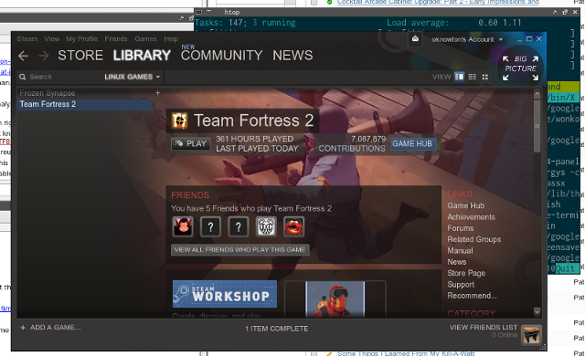 Native Steam client on Linux